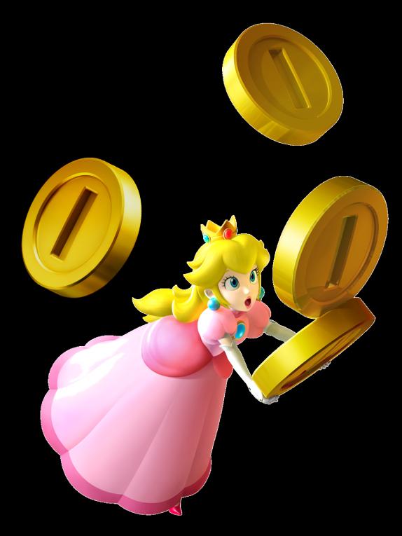 Prinses Peach Coins - Muurstickers - Super Mario en Sonic shop